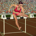Free Woman In Hurdling Stock Photos - 26402333