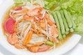 Free Green Papaya Salad Thai Cuisine Spicy Delicious Royalty Free Stock Image - 26406576