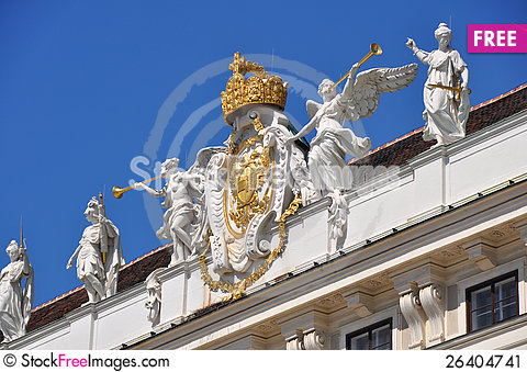 Free Pompous Decoration Of Hofburg, Vienna Stock Image - 26404741