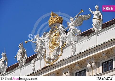 Free Pompous Decoration Of Hofburg, Vienna Stock Image - 26404741