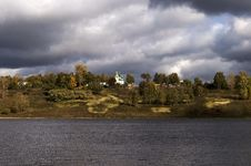 Free Volga River With Storm Clouds Stock Photo - 26401490