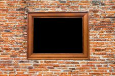 Free Photo Frame On Old Brick Wall Stock Photo - 26401620
