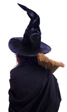 Free Girl In Halloween Witch Royalty Free Stock Photos - 26401908