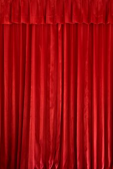 Free Red Curtain Background Stock Images - 26402694