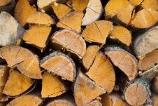 Dry Chopped Firewood Logs Ready For Winter Royalty Free Stock Images