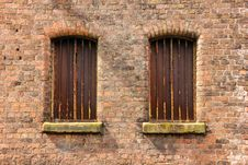 Free Twin Windows In Storehouse Stock Photos - 26409763
