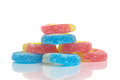 Free Jelly Candies On White Background Royalty Free Stock Images - 26411089