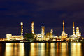 Free Oil Refinery Factory With Reflection On The River. Stock Photography - 26415842