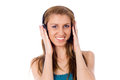 Free Beautiful Girl Listening To The Music Royalty Free Stock Photos - 26416848