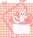 Free Copybook With Cat Stock Photography - 26417992