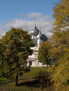 Free Holy Cross Cathedral In Tutaev, Russia Royalty Free Stock Images - 26411629