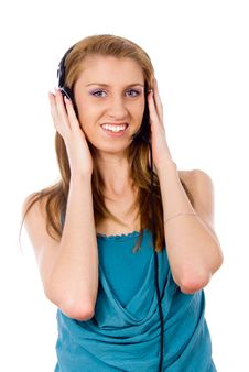 Free Girl Listening To The Music Stock Photography - 26412212