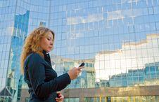 Free Businesswoman Talking On Mobile Phone Royalty Free Stock Image - 26415526