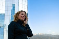 Free Businesswoman Talking On Mobile Phone Royalty Free Stock Photography - 26415587