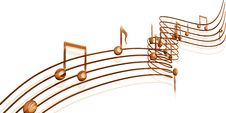 Golden Musical Notes Royalty Free Stock Photos
