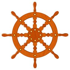 Free Ship Navy Wheel Isolated Stock Image - 26416021