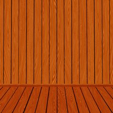 Vector Wooden Texture Interior Room Background Royalty Free Stock Photography