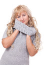 Free Pretty Blond Winter Sweater Woman Royalty Free Stock Photo - 26422455