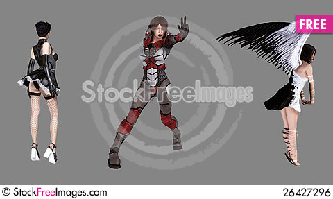 Free Fantasy Characters Royalty Free Stock Image - 26427296