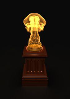 Golden Fire Award Royalty Free Stock Photos