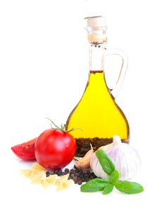 Free A Bottle Of  Olive Oil Royalty Free Stock Photography - 26422027