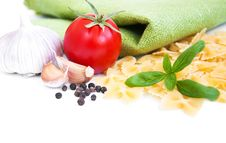 Free Pasta And Vegetables Stock Image - 26422031