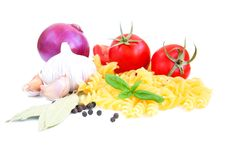 Free Pasta And Vegetables Stock Photography - 26422062