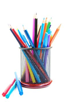 Free Color Pencils And Pens Stock Photo - 26422100