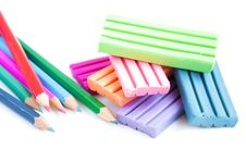 Free Modeling Clay And Pencils Stock Photography - 26422112