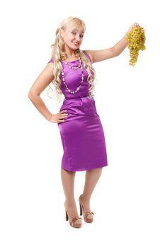 Free Young Girl In A Purple Evening Dress Stock Images - 26422454