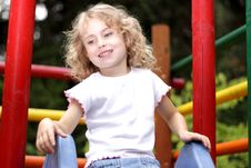 Free Young Girl  Slide Stock Photo - 26422460