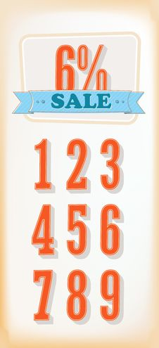 Free Discount Labels. Vector, Set Royalty Free Stock Images - 26424419