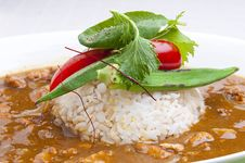 Free Curry And Rice Royalty Free Stock Photography - 26425427