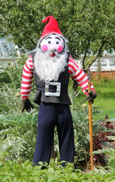 Free Scarecrow Gnome. Royalty Free Stock Image - 26428196