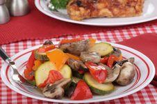 Free Pepper Zucchini Salad Stock Photography - 26428212
