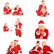Free Fanny Kids In Santa Clauss Costumes Royalty Free Stock Photos - 26428308