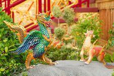 Free Dragon Sculpture. Royalty Free Stock Photos - 26428448