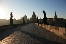 Charles Bridge At Dawn Royalty Free Stock Photography