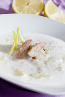 Crab Soup Royalty Free Stock Photo