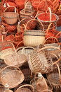 Free Many Beautiful Wooden Wicker Baskets Stock Photos - 26431963