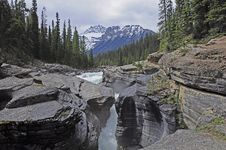 Free Mistaya Canyon. Alberta. Canada. Stock Photography - 26430722