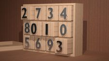 2013 On Wooden Cubes Stock Image