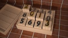 2013 On Wooden Cubes Royalty Free Stock Photography