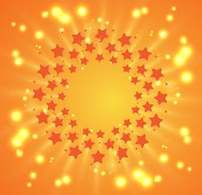 Free Christmas And New Year Firework Stars On Sky Royalty Free Stock Image - 26435496