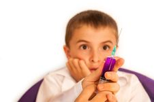 Free Child And Injection Stock Images - 26436384