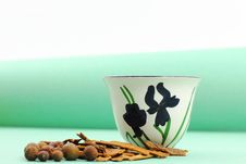 Free Green-Themed Arabic Coffee Cup Royalty Free Stock Photos - 26438158