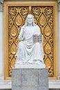Free Jesus Statue In Front Of Church Door Stock Photos - 26448263