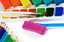 Clay And Paint Royalty Free Stock Photography