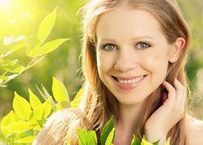 Free Beauty Girl In Nature Stock Image - 26441321