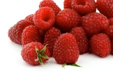 Free Heap Of Perfect Ripe Raspberries Stock Images - 26441334
